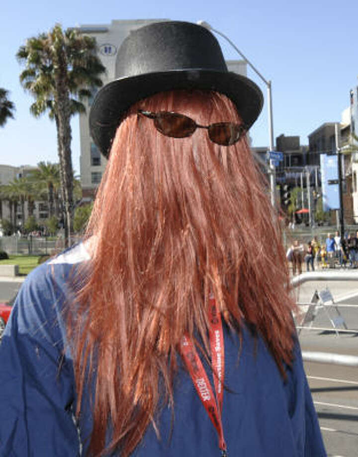 Cousin Itt is seen at the convention Photo: DENIS POROY, ASSOCIATED PRESS