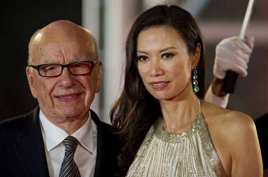 Media executive Rupert Murdoch, 80, and his wife Wendi Deng, 42. Photo: PHILIPPE LOPEZ, Getty