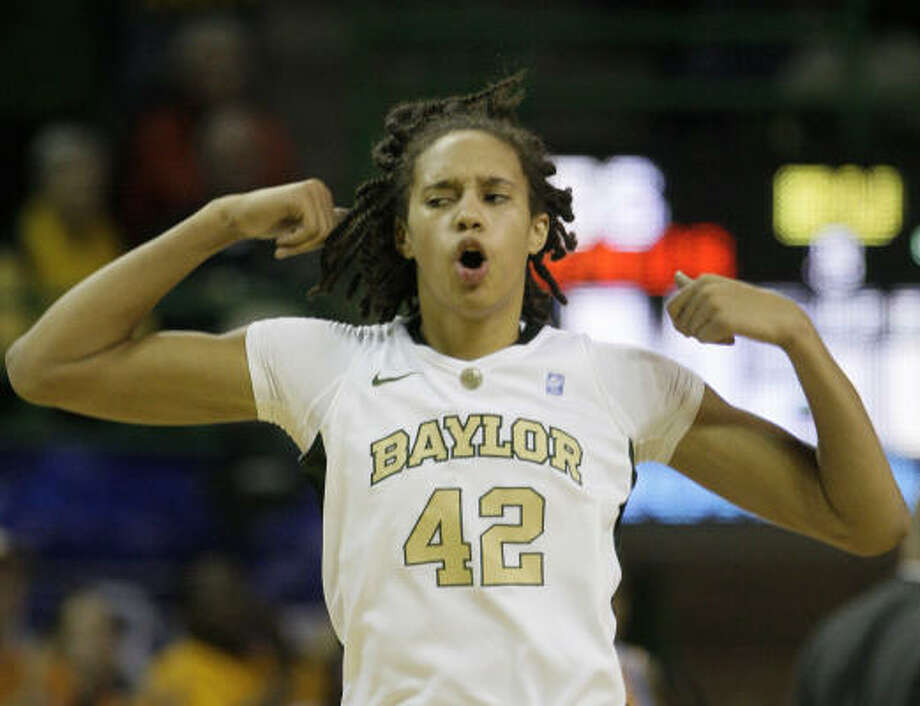Brittney Griner, Baylor: Hard to believe she'll only be a junior this coming season. No player in the league's history has earned headlines like Griner, for one primary reason: she can easily dunk. Her opponents will claim, however, she can do much more than that. Griner, the Big 12's player of the year this past season, led the nation in blocks with 170 while averaging a league-best 23 ppg. Photo: AP