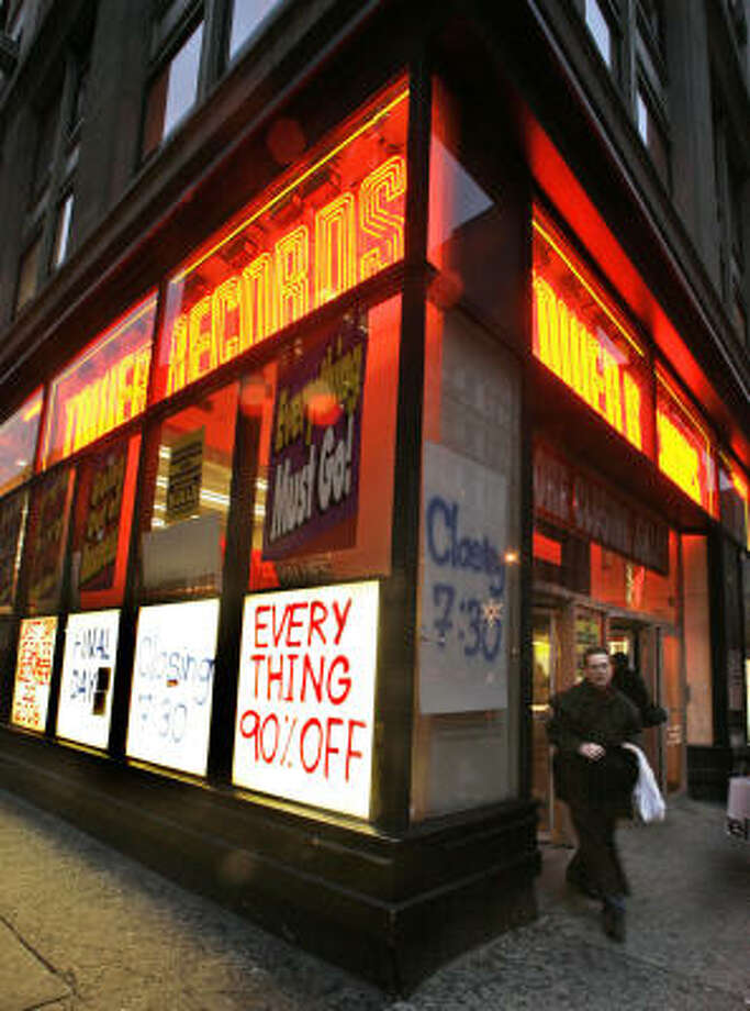 Tower Records(1960-2006)  The iconic music retailer Tower Records fell victim to online sales and pirated downloads, forced to close in 2006. Photo: Mary Altaffer, ASSOCIATED PRESS