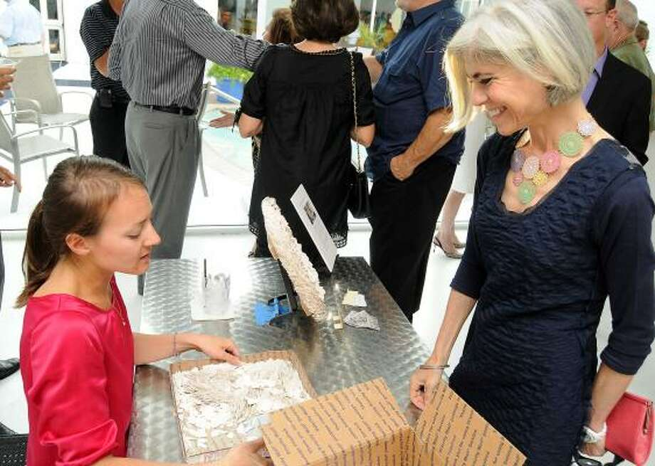 Art collector Judy Nyquist (right) is known for her support of art
