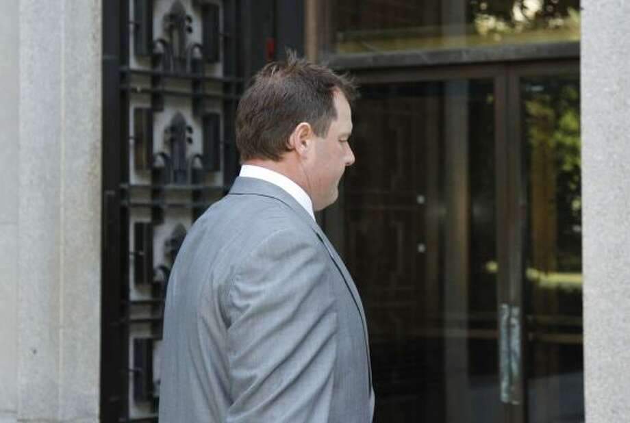 Roger Clemens arrives at federal court in Washington. Photo: Alex Brandon, Associated Press