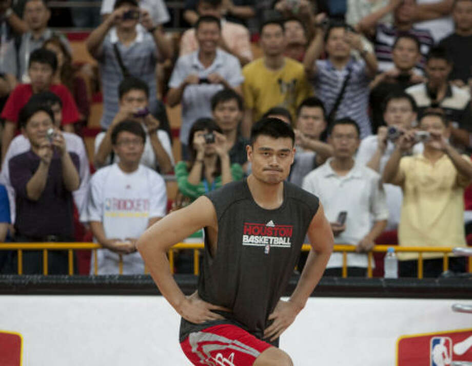 He's big in ChinaYao Ming was always a big draw in China. He was so popular, teammates often landed endorsement deals in Yao's native country. Photo: Billy Smith II, Chronicle