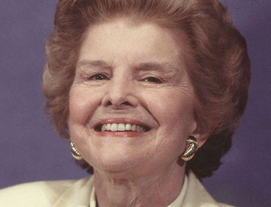 Former first lady Betty Ford's revelations about her drug-alcohol addiction and struggle with breast cancer inspired many to seek treatment. Photo: Richard Ellis, Getty