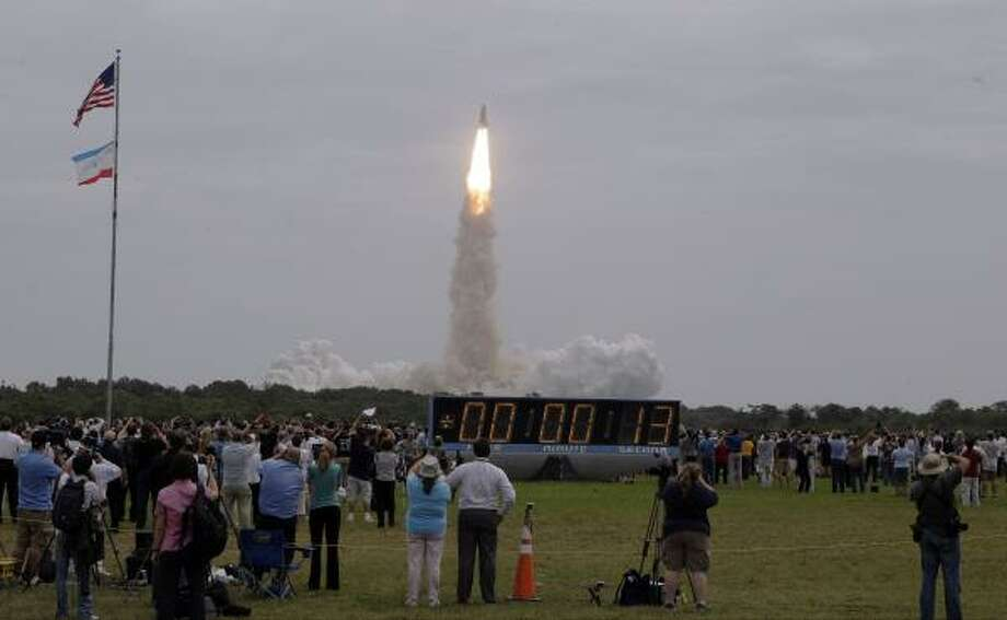 The space shuttle Atlantis lifts off from the Kennedy Space Center Friday, July 8, 2011, in Cape Canaveral, Fla. Photo: Morry Gash, Associated Press