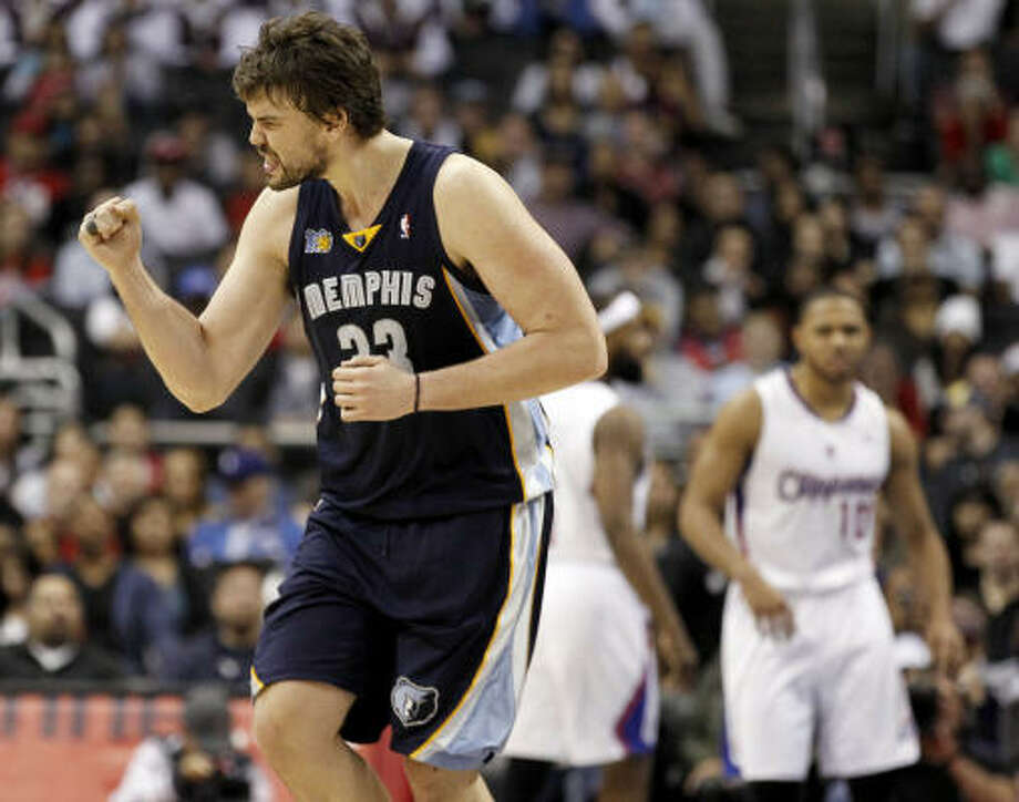 15. Will the Grizzlies shock again?The Memphis Grizzlies became the fourth eight seed to defeat the top seed in the first round last year when they shocked the San Antonio Spurs in six games. With Marc Gasol (pictured) and Shane Battier entering free agency, it's unknown whether their team will remain intact next season. Photo: Chris Carlson, AP