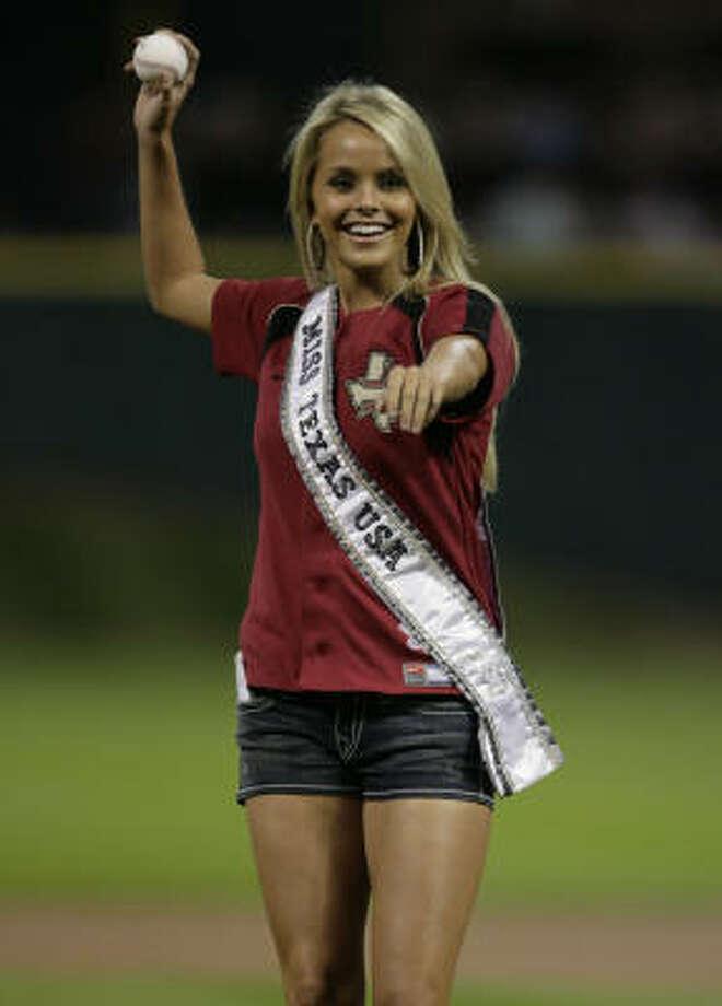 Miss Texas USA 2009 Brooke Daniels Sam Houston State University Photo: Julio Cortez, Houston Chronicle