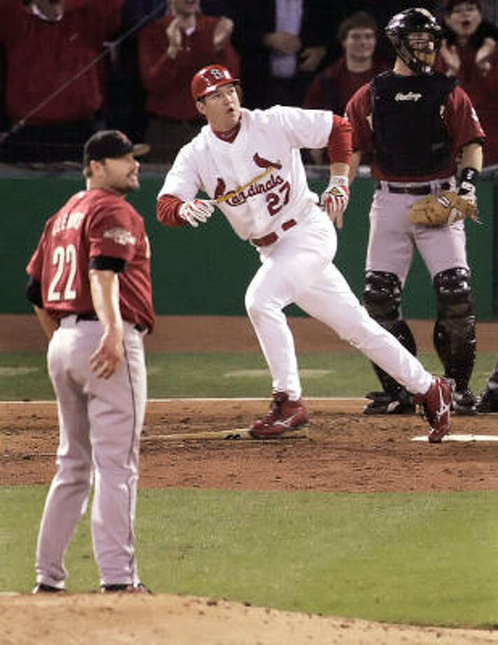 HOUSTON'S MOST HEARTBREAKING LOSSESThe 2004 NLCS between the Astros and the CardinalsThe Astros built a 3-2 lead in the best-of-seven series, but couldn't close it out, not even with a rested Roger Clemens on the mound for Game 7. Photo: JOHN GRESS, REUTERS