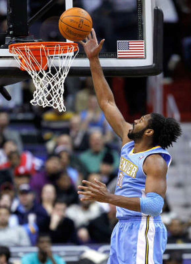 Denver Nuggets: B Pick 22: Kenneth Faried (Morehead State)  Pick 26: Jordan Hamilton (Texas)  Comment: The Nuggets drafted Faried, a  terrific rebounder, then acquired Hamilton and Portland guard Andre Miller in a trade. Photo: HARRY E. WALKER, MCT