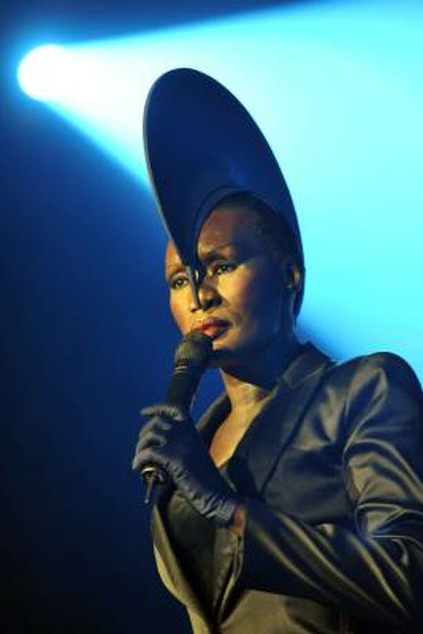 Jamaican singer, model and actress Grace Jones shows off her bald look in style. Photo: GEORGIOS KEFALAS, ASSOCIATED PRESS