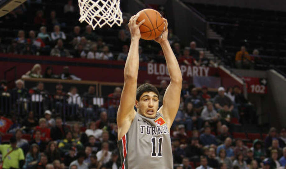 Enes Kanter Size: 6-11, 259 Age: 19 School: Kentucky Kanter didn't play for the Wildcats because the NCAA ruled him ineligible in relation to amateurism rules, but he figures to be a lottery pick, perhaps taken in the top five. He has a long wingspan (7-3), has shooting range and can rebound. Photo: Rick Bowmer, Associated Press