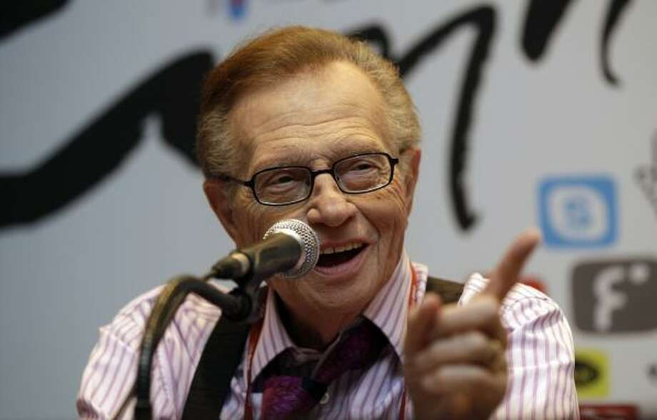Larry King has been married eight times to seven women. Photo: Lee Jin-man, Associated Press