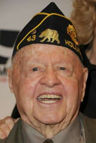 "Mickey Rooney has had eight wives. He once famously said, ""Always get married in the morning. That way, if it doesn't work out, you haven't wasted a whole day."" Photo: Jason Merritt, Getty Images"