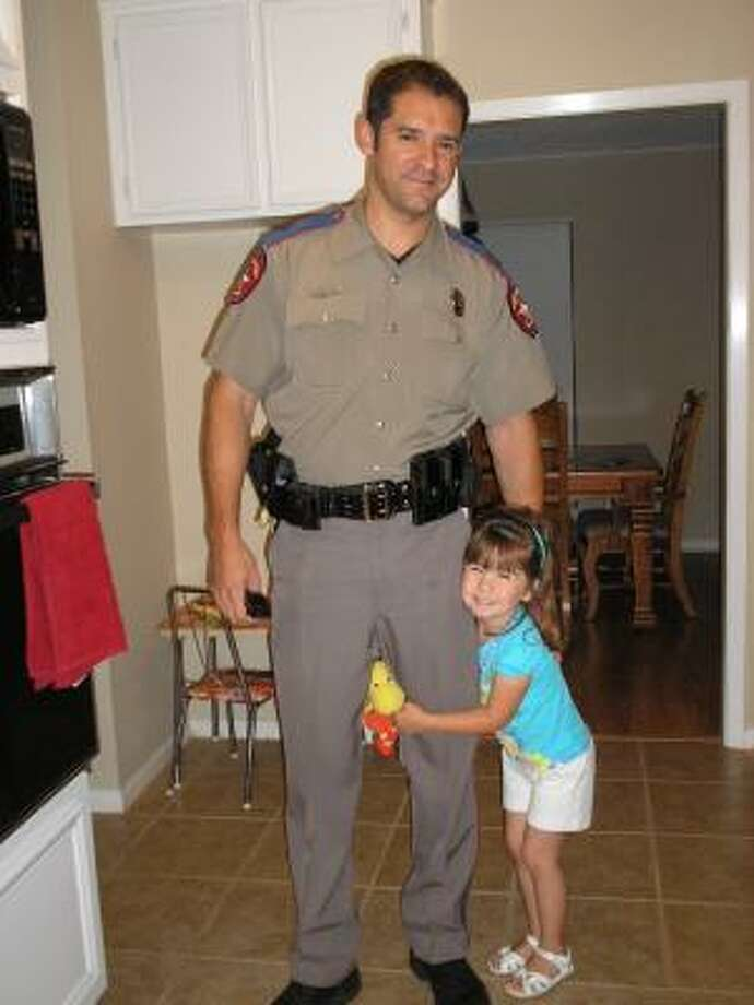 My husband Paul is the best husband/father I could have ever asked for.  This man sacrifices so much for our family and, as a State Trooper with the Texas Department of Public Safety, he also puts his life on the line every day to keep us and our community safe.  His family means everything to him and he shows us every day how much he loves us.  As busy as he is, he always makes time to read our daughter a story before bed and sings to her.  She adores him!  He always finds time to be silly and enjoy life and that is what I love about him the most.  He always makes me laugh and never fails to surprise me with little notes, texts or emails telling me how much he loves me.  On top of all these wonderful qualities, he's also really HOT!   For all these reasons, he is truly, the best man ever!