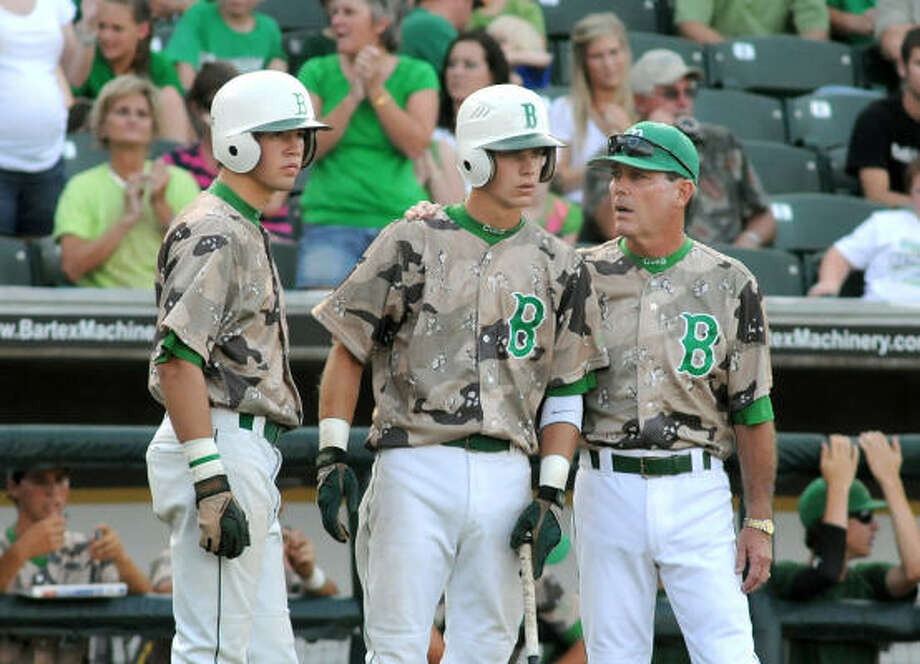 Colten WallaInfielder, Senior, BrenhamWalla, center, had a breakout year for the Cubs, hitting .392 and slugging .601 with five homers and 56 RBIs to guide Brenham to its third straight state tournament. Photo: Jerry Baker, For The Chronicle