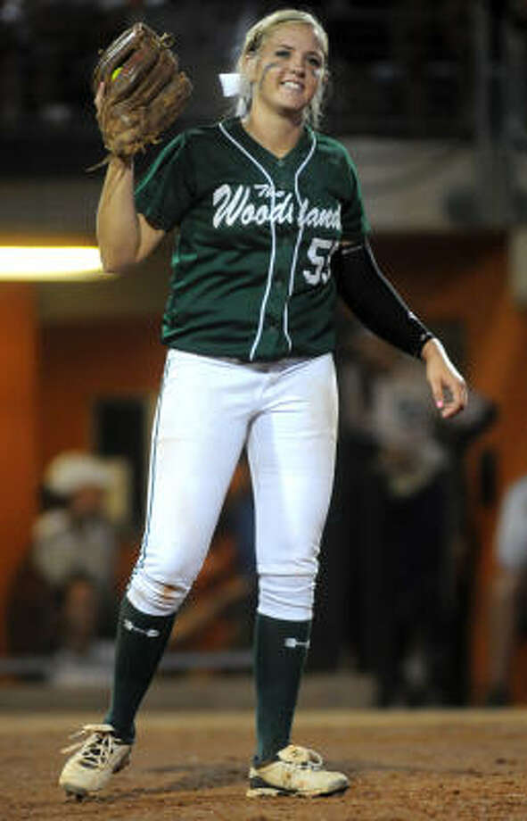 First TeamPaige McDuffeePitcher, Junior, The WoodlandsThe UCLA-bound junior lefty went 38-1 this year, had more than 300 strikeouts and led the Highlanders to the Class 5A championship. Photo: Jerry Baker, For The Chronicle