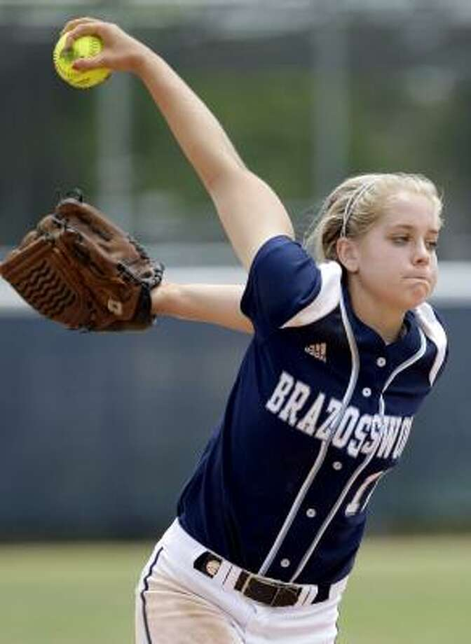 Cassidy DrostePitcher, Freshman, BrazoswoodDroste was the first area pitcher to reach 300 strikeouts this season and went 20-4 as the Bucs finished 27-12 and made it to the regional quarterfinals. Photo: Thomas B. Shea, For The Chronicle