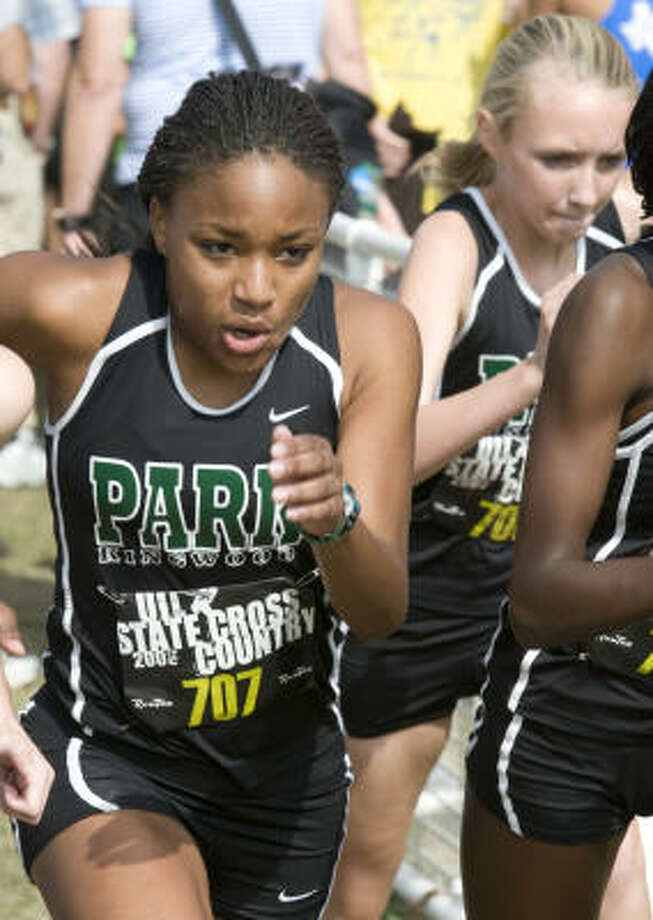 Girls distance: Zahri Jackson, Kingwood ParkJackson ran the 1,600 meters in 4 minutes, 57.33 seconds to clinch the gold medal at state. Photo: Andy Sharp, For The Chronicle