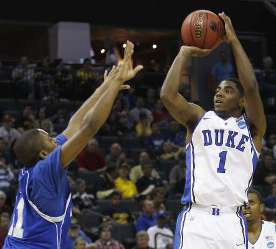"Kyrie Irving, PG, 6-3, Duke ""Playmaking point guard with great feel. Coming off a short season, I would say an all-around point guard."" Photo: Anonymous, Associated Press"