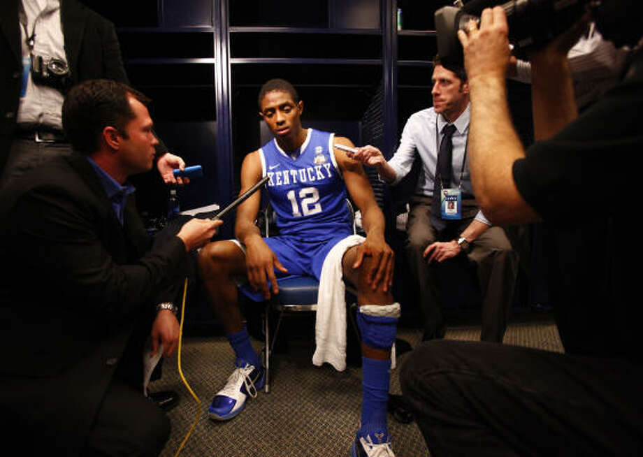 "Brandon Knight, PG, 6-3, Kentucky  ""Solid all around point guard. Strong shooting ability. Great approach."" Photo: Michael Paulsen, Houston Chronicle"