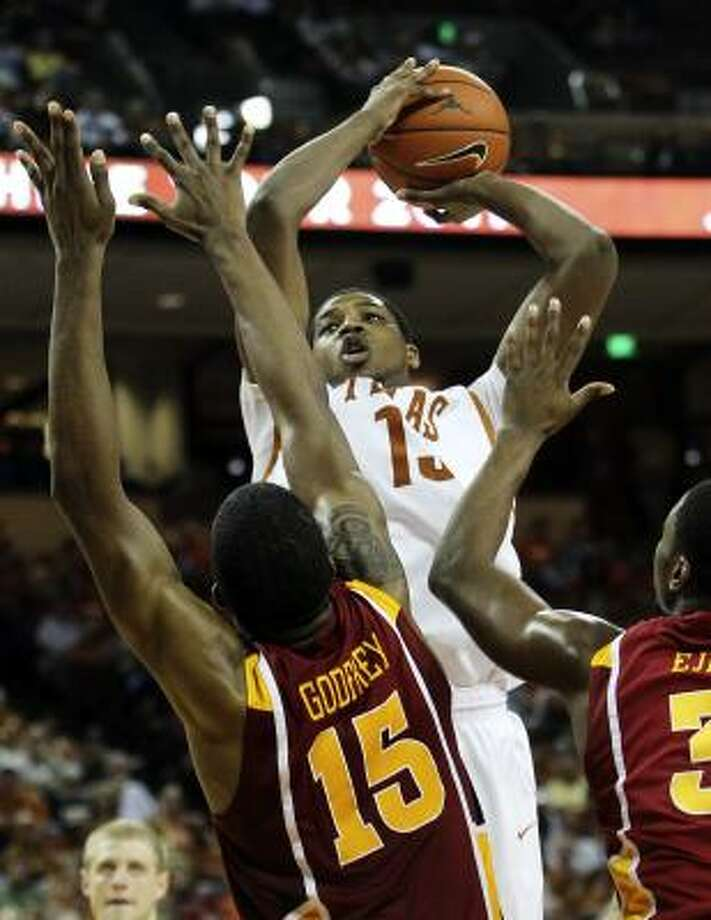 "Tristan Thompson, PF, 6-9, Texas ""Young defensive big. Interesting physical tools. Raw offensive game."" Photo: KIN MAN HUI, San Antonio Express-News"