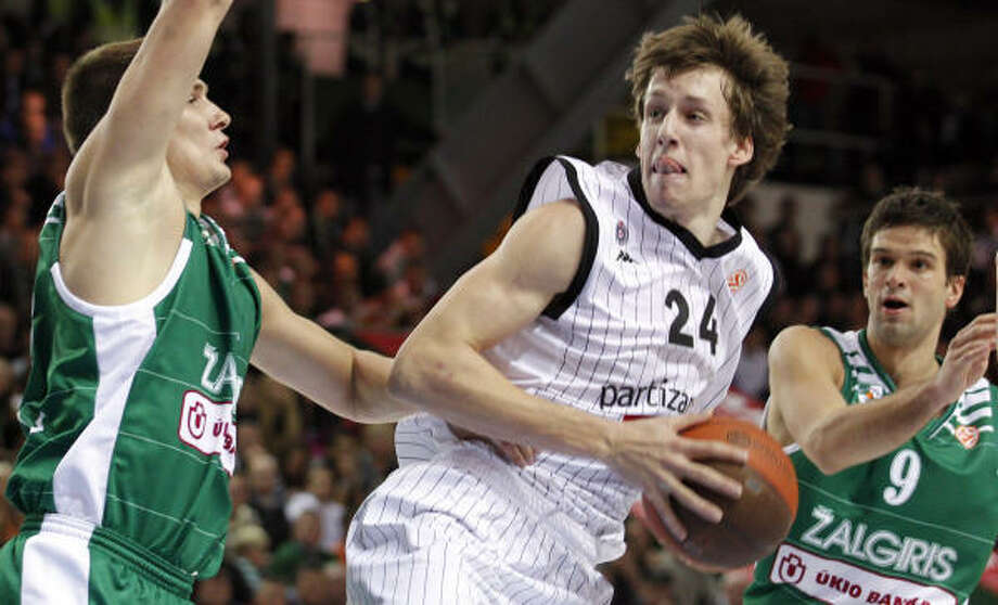 "Jan Vesely, SF, 6-11, KK Partizan Belgrade ""Big and athletic defensive wing. Another versatile offensive game. Similar to (Andrei) Kirilenko."" Photo: MINDAUGAS KULBIS, Associated Press"