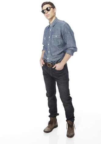 For a denim-on-denim look, wear a chambray denim shirt with dark denim jeans, from JCPenney. Photo: Courtesy Photo/JCPenney / JCPenney