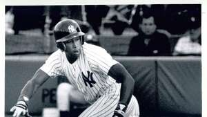 Click through the gallery to see other local athletes who moved to the next level.  Bernie Williams is among the notable former Albany-Colonie Yankees along with guys such as with Derek Jeter, Mariano Rivera, Andy Pettitte, Jorge Posada and Deion Sanders. The team was a Class AA affiliate of the New York Yankees and played in the Eastern League from 1985 to 1994.  Here, Williams runs toward first base following a bunt attempt on Aug. 1, 1989, in a home game at Heritage Park in Colonie. (D'Annibale / Times Union)