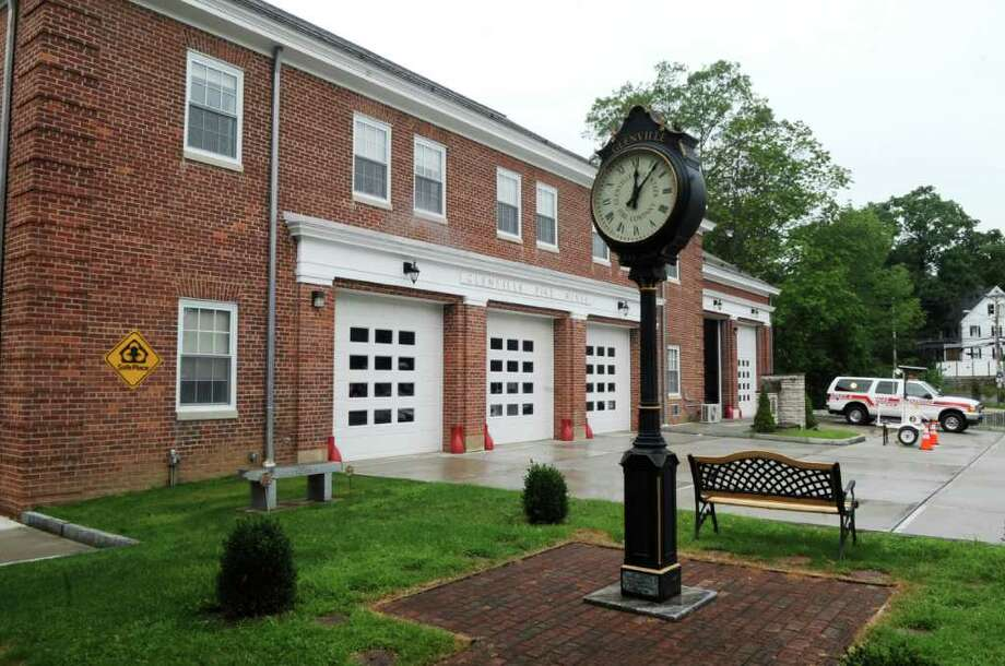 The Glenville Volunteer Fire Co., as seen on Thursday, Aug. 18, 2011. The Glenville Volunteer Fire Co. is the recipient of a steel I-beam from the World Trade Center, courtesy of the Port Authority of New York  New Jersey, that it plans to incorporate into a memorial in front of the fire station. A number of Glenville volunteers responded to ground zero after the Sept. 11 terrorist attacks. Photo: Helen Neafsey / Greenwich Time