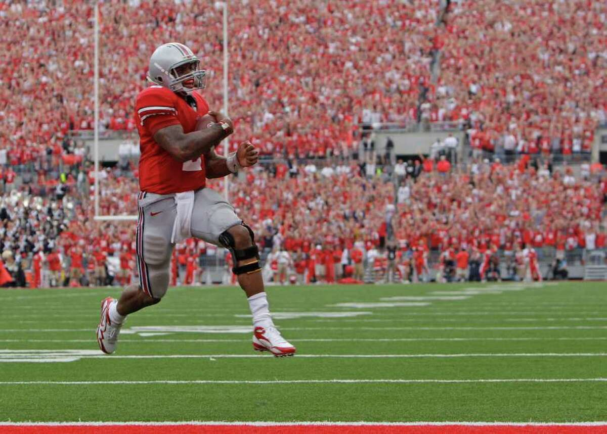 2008: Terrelle Pryor (pictured), QB, Ohio State (Rivals, Scout); Da'Quan Bowers, DL, Clemson (ESPN). After three productive seasons with the Buckeyes, Pryor's college career concluded in messy fashion when he left Ohio State after an investigation into the memorabilia-for-cash scandal that cost coach Jim Tressel his job. He's started 12 NFL games for Oakland and Cleveland in five years. Bowers led the nation in sacks in 2010 and then moved on to the NFL. He was picked in the second round by Tampa Bay, slipping because of concerns about his right knee. He's still with the Buccaneers but has started only 10 games for them.