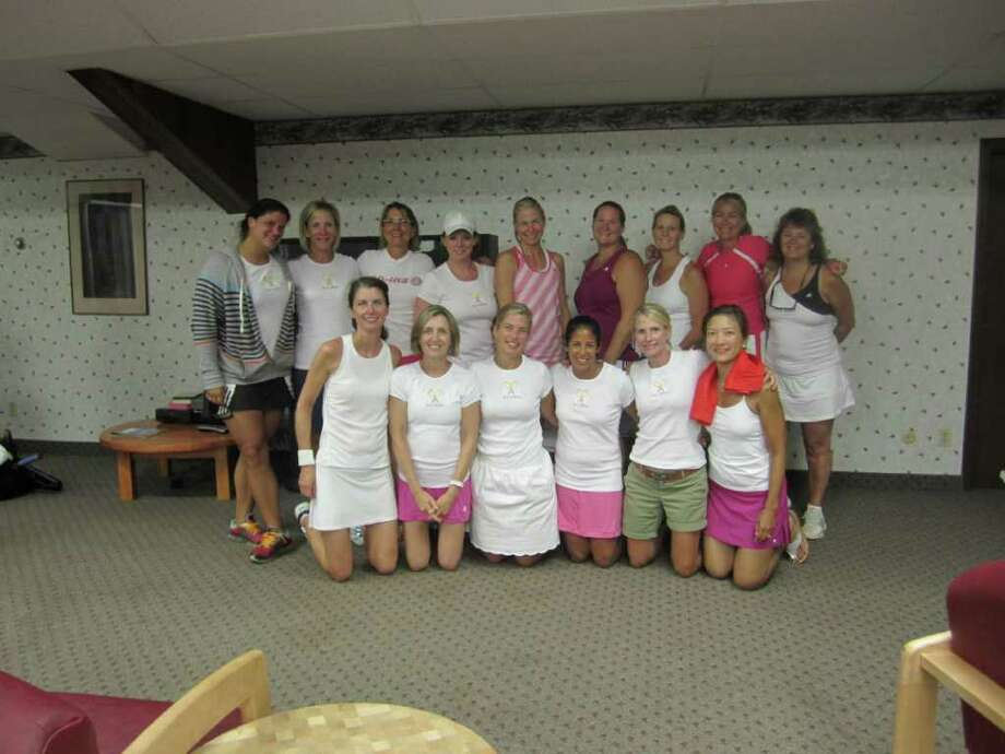"The ""Ad Ins"" ladies USTA tennis team frequently competes at the Kings Highway Tennis Club in Darien. Photo: Contributed Photo"