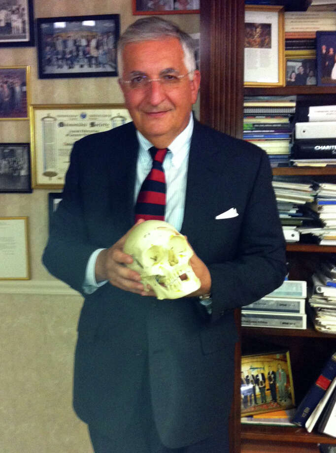 Dr. Daniel E. Nijensohn, associate clinical professor of neurosurgery at Yale University, at his office in Bridgeport. Nijensohn was one of a team of researchers who worked on a paper showing that iconic Argentinian First Lady Eva Peron had a prefrontal lobotomy near the end of her life. Peron died in 1952 after a battle with cervical cancer. Photo: Amanda Cuda / Connecticut Post