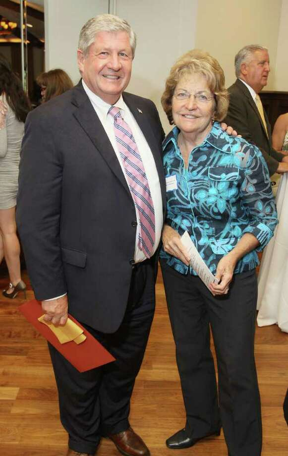 Saratoga Springs, NY - August 15, 2011 - (Photo by Joe Putrock/Special to the Times Union) - NYS Assemblyman Roy McDonald(left) and NYS Senator Betty Little during An August Evening in Saratoga, a benefit for the Mental Health Foundation. Photo: Joe Putrock / Joe Putrock