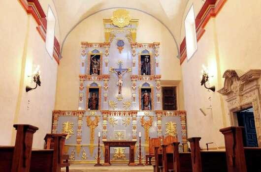 The retablo at Mission San José, Aug. 16, 2011. Photo: EDWARD A. ORNELAS, SAN ANTONIO EXPRESS-NEWS / © SAN ANTONIO EXPRESS-NEWS (NFS)