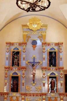 Detail of the retablo at Mission San José. Photo: EDWARD A. ORNELAS, SAN ANTONIO EXPRESS-NEWS / © SAN ANTONIO EXPRESS-NEWS (NFS)