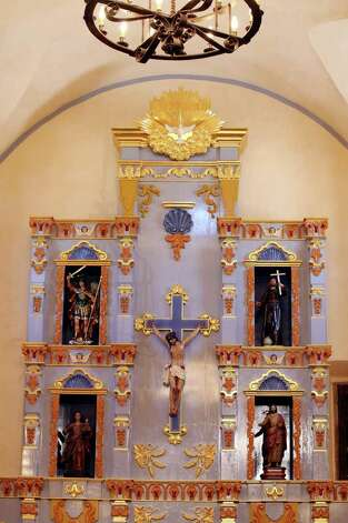 Detail of the retablo at Mission San José. Photo: EDWARD A. ORNELAS, SAN ANTONIO EXPRESS-NEWS / © SAN ANTONIO EXPRESS-NEWS (NFS)