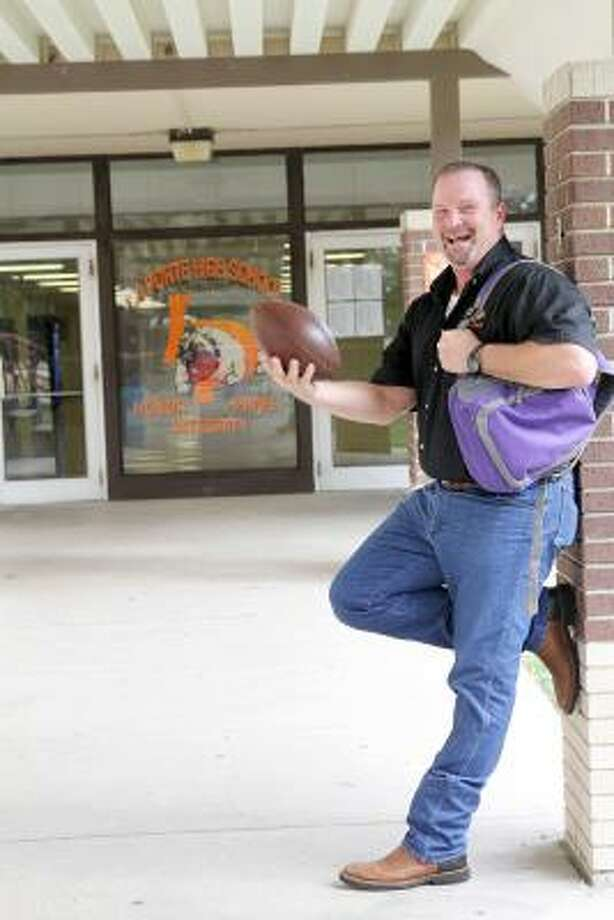 DEJA VU, SORT OF: When Todd Schoppe graduated from La Porte High School in 1981, he never dreamed he'd one day walk the halls as principal of his alma mater. But that's just what happened. When the school bell rings next week, Schoppe, 48, will greet La Porte High students in his new role. Photo: Pin Lim, For The Chronicle