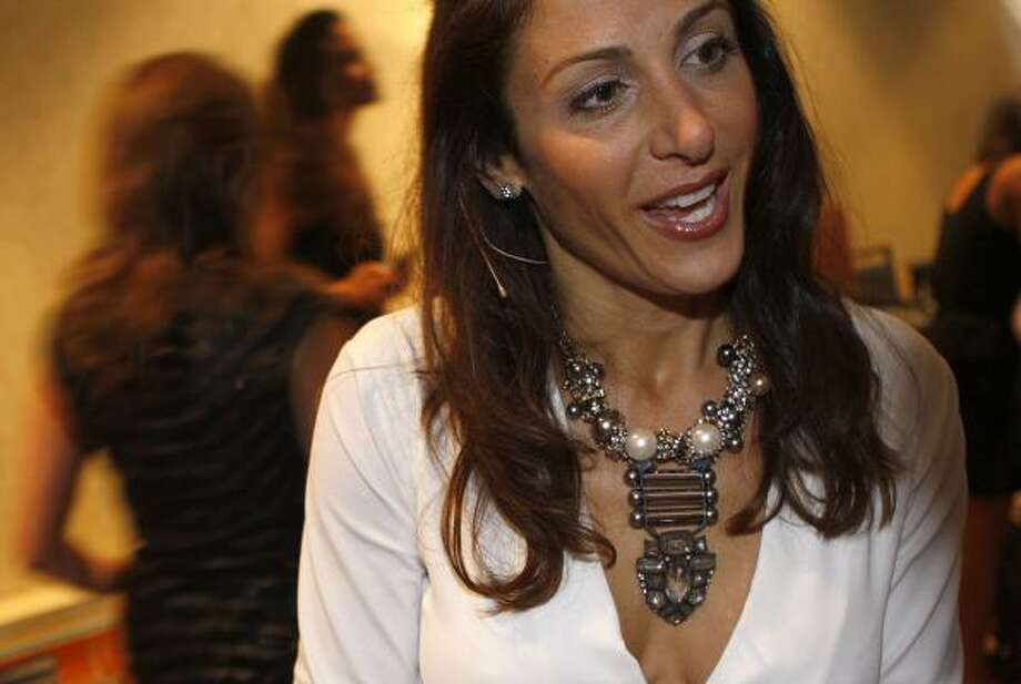 Company founder Jessica Herrin of Stella & Dot jewelry is wearing the french deco necklace. Photo: Liz Hafalia, San Francisco Chronicle