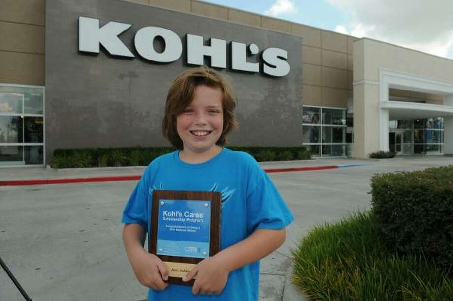 Alex deMasi, 10, a fifth-grader at Northeast Christian Academy, won a $10,000 scholarship from Kohl's for his service project that honors veterans at the Houston National Cemetery. Photo: Jerry Baker, For The Chronicle