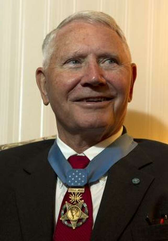 Leo Thorsness learned he was nominated for the medal while a prisoner of war in Hanoi. Photo: James Nielsen, Chronicle