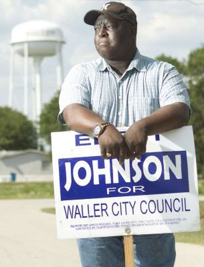 Sid Johnson was defeated in May but says hundreds of residents said they were deprived of their votes. He and the mayor have asked for a federal probe. Photo: Cody Duty, Chronicle
