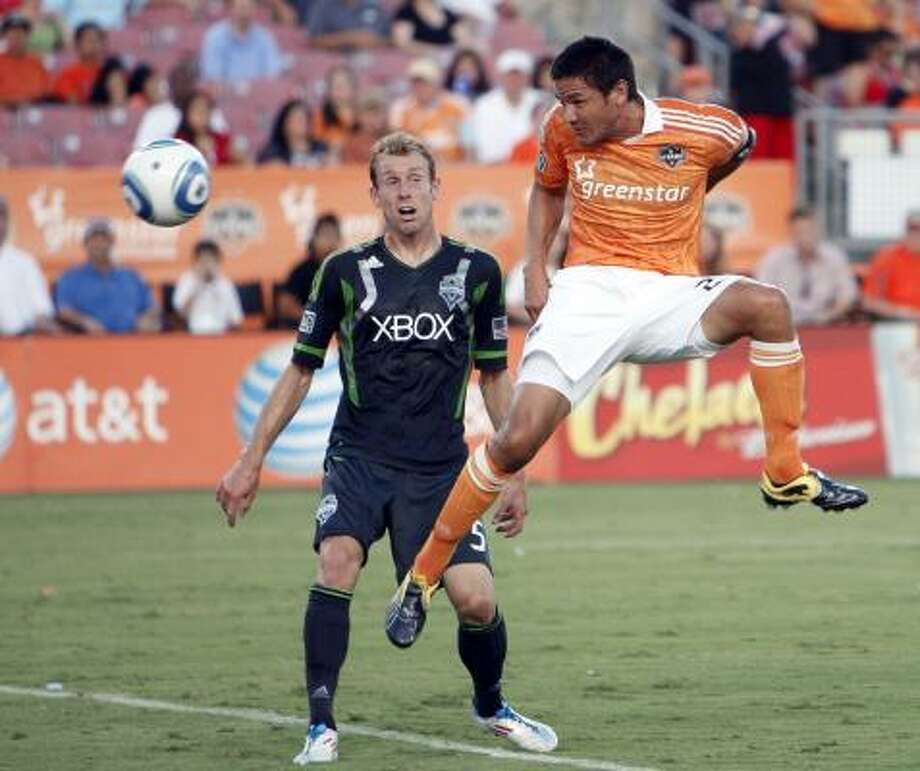 The Dynamo are undefeated in games Brian Ching has started since he has returned to the lineup. Photo: Bob Levey, Getty