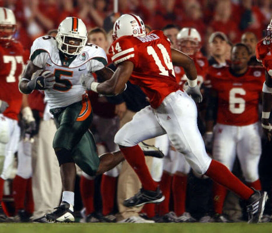 Andre Johnson played at Miami from 2000-02, and Nevin Shapiro's involvement started in 2002. Photo: KAREN WARREN, CHRONICLE