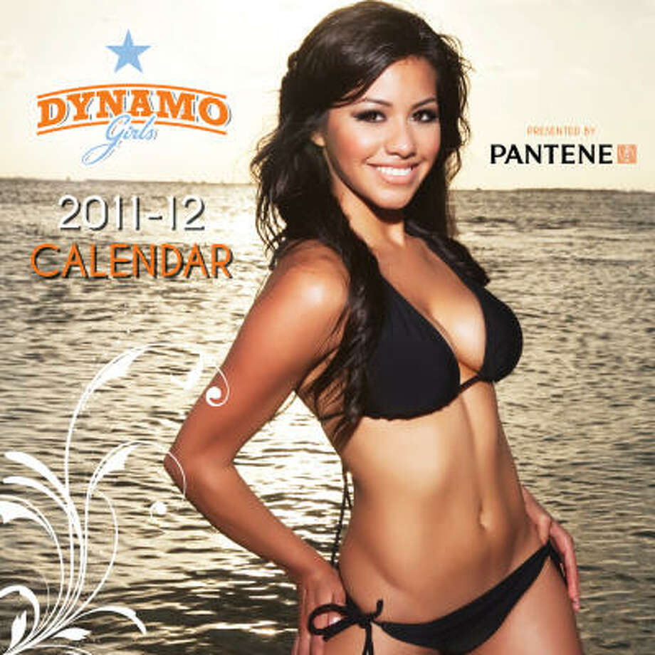 Esmeralda graces the cover of the upcoming Dynamo Girls calendar. Photo: Houston Dynamo