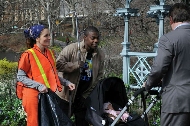 "30 ROCK -- ""Respawn"" Episode 523 -- Pictured: (l-r) Tina Fey as Liz Lemon, Tracy Morgan as Tracy Jordan, Alec Baldwin as Jack Donaghy (Ali Goldstein / NBC) Photo: Ali Goldstein, AP Photo / © NBCUniversal, Inc."