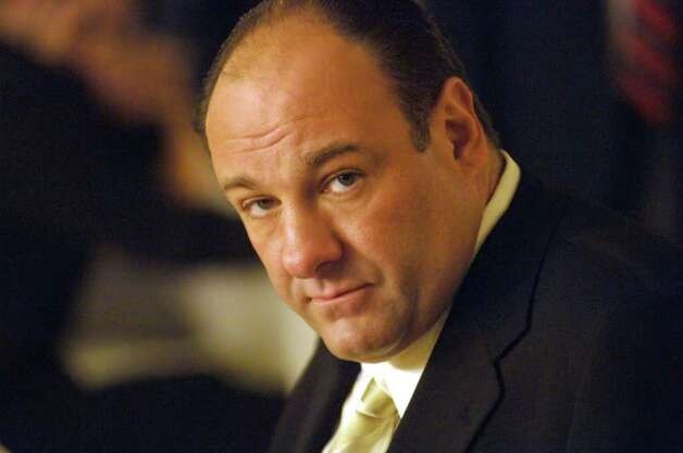 "This undated file photo, released by HBO, shows actor James Gandolfini in his role as Tony Soprano, head of the New Jersey crime family portrayed in HBO's ""The Sopranos."" Nearly a year after the smash series' finale left fans guessing what it all meant, dozens of scholars gathered at Fordham University in New York, Friday, May 23, 2008 to parse what ""The Sopranos"" had to say about topics ranging from gender roles to the justice system, race relations to health care. Photo: Barry Wecter, AP Photo / HBO"