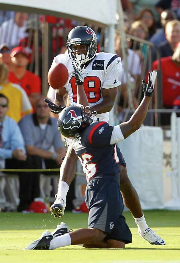 When given the chance, Texans rookie receiver Lestar Jean has generally made the play. Photo: Karen Warren, Houston Chronicle / © 2011 Houston Chronicle