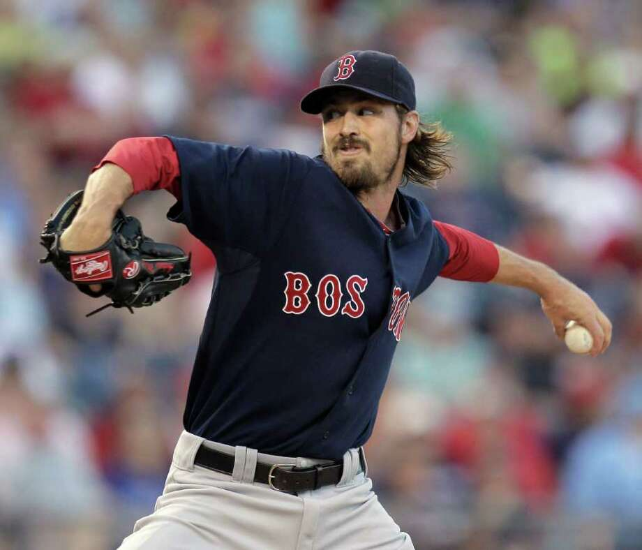 Boston Red Sox starting pitcher Andrew Miller throws during the first inning of a baseball game against the Kansas City Royals on Friday, Aug. 19, 2011, in Kansas City, Mo. (AP Photo/Charlie Riedel) Photo: Charlie Riedel