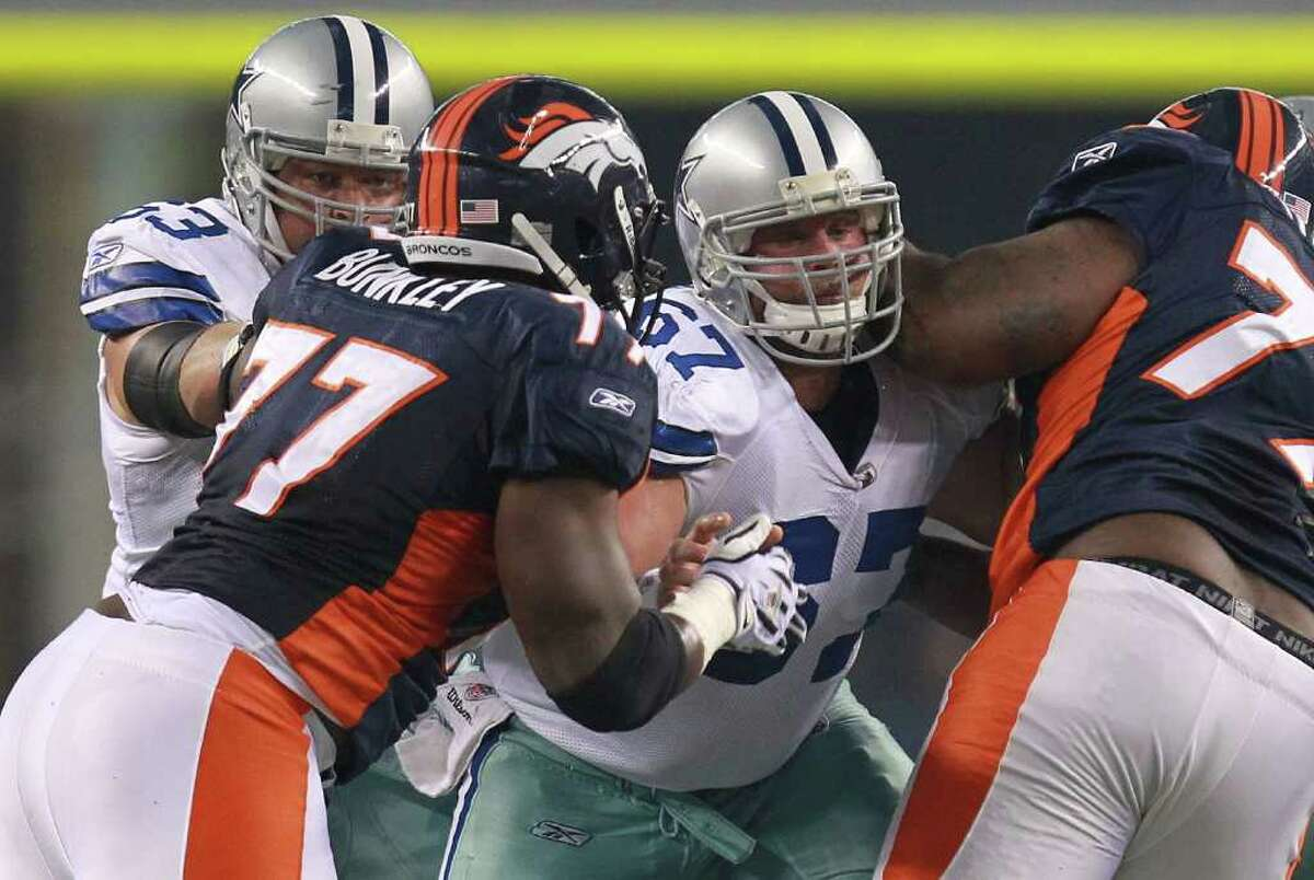 ARLINGTON, TX - AUGUST 11: Phil Costa #67 of the Dallas Cowboys at Cowboys Stadium on August 11, 2011 in Arlington, Texas. (Photo by Ronald Martinez/Getty Images)