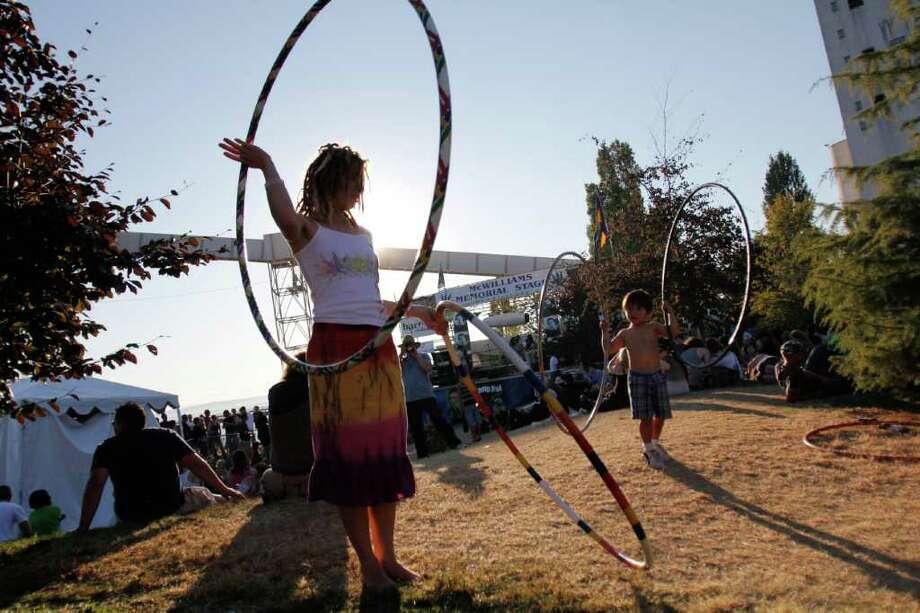 Kami Greene at Hempfest in Seattle's Myrtle Edwards Park on Saturday, Aug. 20, 2011. Photo: JOE DYER / SEATTLEPI.COM
